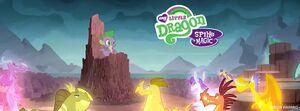 MLP Facebook header My Little Dragon Spike is Magic
