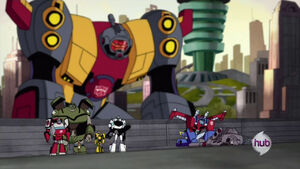 Optimus and his Team with Omega Supreme and Megatron (Ep. 42)