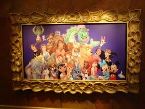 Disney characters portrait 1