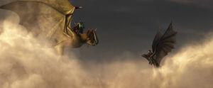 На драконах в небе