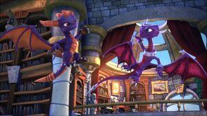 Cynder with Spyro (Skylanders Academy)