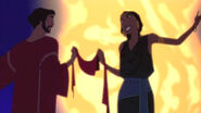Moses and Tziporrah's dance of romance