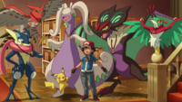 Ash and his Pokemons (After Team Flare's Defeat)