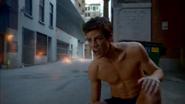 Plastique blows up Barry Allen's Flash suit