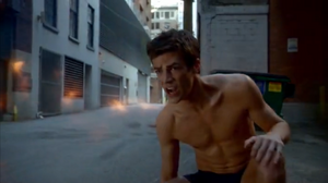 Plastique blows up Barry Allen's Flash suit