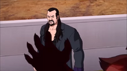 The Undertaker about to knockout Inferno with the Tombstone Piledriver