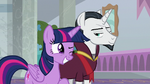 Twilight winks at Chancellor Neighsay S8E26