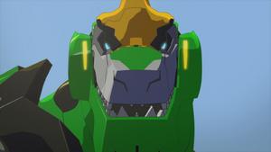 Grimlock looks ferocious.