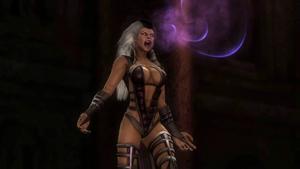Sindel screaming as she enters Mk9.