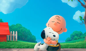 Charlie Brown Hugs Snoopy Peanuts Movie Trailer
