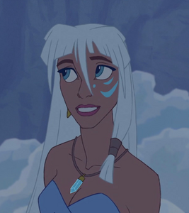 Kida smiling sweetly