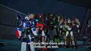 Bumblebee, Grimlock, Drift and Strongarm (S3E25)