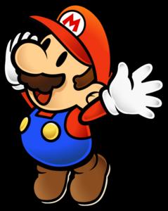 PMTTYD Mario Waving Artwork