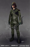 The Arrow Season 3 concept artwork