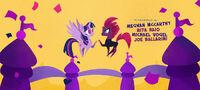 Twilight and Fizzlepop hoof-bump
