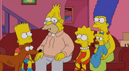 Simpson Family and their dog (S24E08)