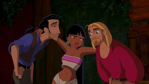 Chel making a deal with Miguel and Tulio