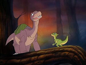 Littlefoot meeting Ducky