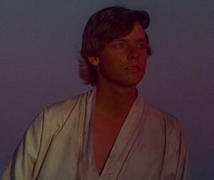 Luke Skywalker longing to leave home and fight the empire