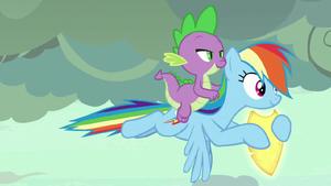 Netitus glowing on Rainbow Dash's hooves S7E25