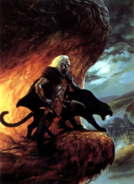 Forgotten Realms - Drizzt Do'Urden & Guenhwyvar by Jeff Easley
