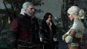 Geralt, Ciri and Yennefer