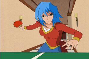 Mitsuki playing Ping Pong
