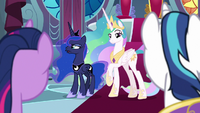 Princess Luna scoffs with bitterness S9E4