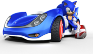 Sonic and sega all stars racing sonic