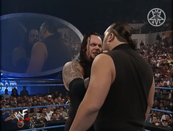 The Undertaker scolding Big Show for disrespecting him