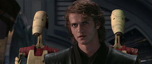 Anakin Skywalker facing General Grievous