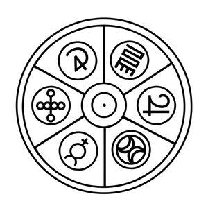 The Merlin Circle Symbol