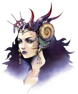 Face of Sorceress Edea Kramer