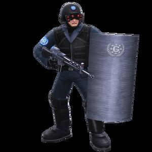GUN Soldier sheild