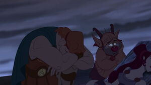 Hercules & Phil mourning over Meg