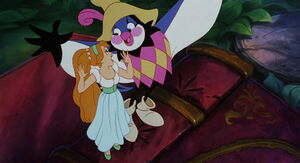 Jacquimo encouraging thumbelina to follow her heart