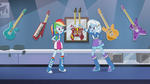 Rainbow Dash and Trixie look at each other EG2