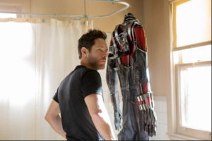 Scott Lang with the Ant Man suit