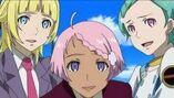 Ao, Fleur and Elena smile