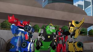 Bee Team and Optimus (S3E21)