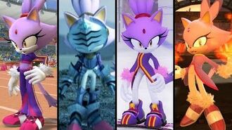 Evolution of Blaze the Cat (2005 - 2018)