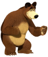 Masha and the Bear Bear Transparent PNG Clip Art Image
