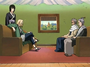Homura and Koharu meet with Tsunade