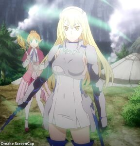 Omake ScreenCap - DanMachi Gaiden - Sword Oratoria - Episode 1 - Aiz Uses Tempest Magic