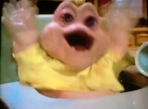 Baby Sinclair's comical yell