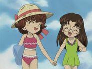 Laura and Kana in Beach