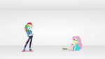 Rainbow finds Fluttershy in cyberspace EGROF