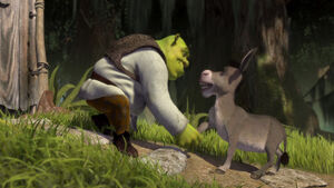 Shrek & Donkey's handshake