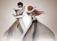 Okabe and Kurisu