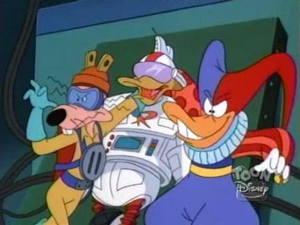 Gizmoduck captured by the Fearsome Five